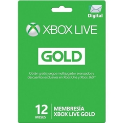 Xbox Live 12 Meses Gold Digital