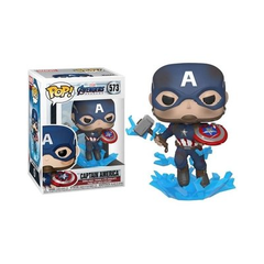 Funko Captain America W/Broken Shield & Mjolnir (573) - EG (MVL)