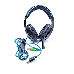 Headphone Gamer Feasso Usb C/Microfone e Vibração