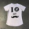 MID FIT BRANCA ' I I P MY MOUSTACHE '