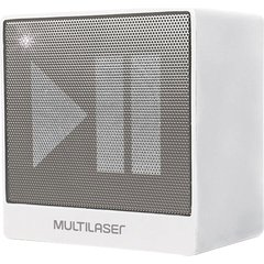 CAIXA DE SOM MINI BLUETOOTH AUXILIAR 8W - SP278 - MULTILASER (BRANCA)