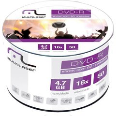 DVD-R 4.7GB 16X PINO COM 50 SHRINK - DV060/061 - MULTILASER
