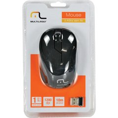 MOUSE SEM FIO 2.4GHZ USB PLUG AND PLAY 1200DPI - MO212 - MULTILASER (PRETO) - comprar online