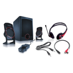 HOME THEATER MICROLAB M-371GC 2.1 GAMER KIT C/AURIC. Y CABLES - comprar online