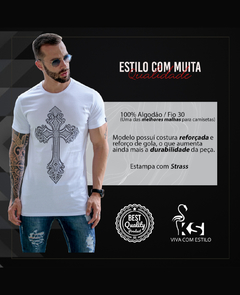 Camiseta Long Line Bright Cross - loja online