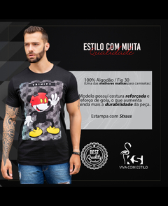 Camiseta Long Line Mickey Touches Red - loja online