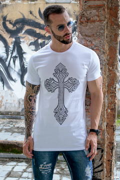 Camiseta Long Line Bright Cross - comprar online