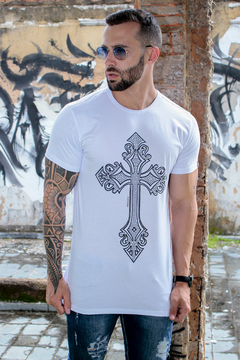 Camiseta Long Line Bright Cross - KS Store