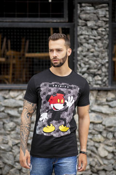 Camiseta Long Line Mickey Touches Red na internet
