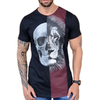 Camiseta Long Line Skull And Lion