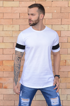 Camiseta Long Line White And Black - comprar online