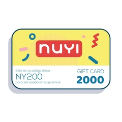 NUYI gift card 2000 en internet