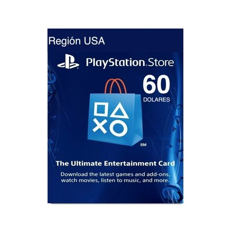Código Play Station Network USA 60 - comprar online