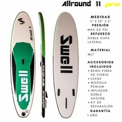Imagen de Tabla Sup Stand Up Paddle Inflable Swell Pro 11