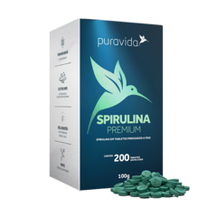 PJ SPIRULINA PREMIUM 100G 200 TABL DE 500 MG - FIT & BEAUTY