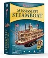 Puzzle 3d Barco Mississippi Steamboat Cubicfun T4026h