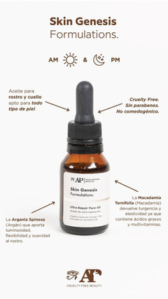 Ultra Repair Face Oil Serum  Skin Genesis Andrea Pellegrino en internet