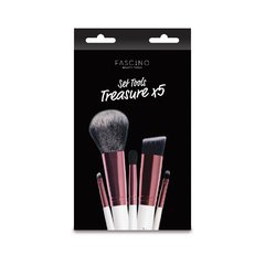 Set De 5 Brochas De Maquillaje Treasure X 5 - Fascino Nuevo en internet