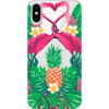Capinha para Celular Flamingos Tropical
