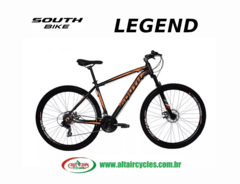 Bicicleta South Legend Preto/Laranja