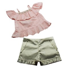 CONJ. BATA E SHORT TINY BABADO SWEET PRINCESS T 6 UN/1