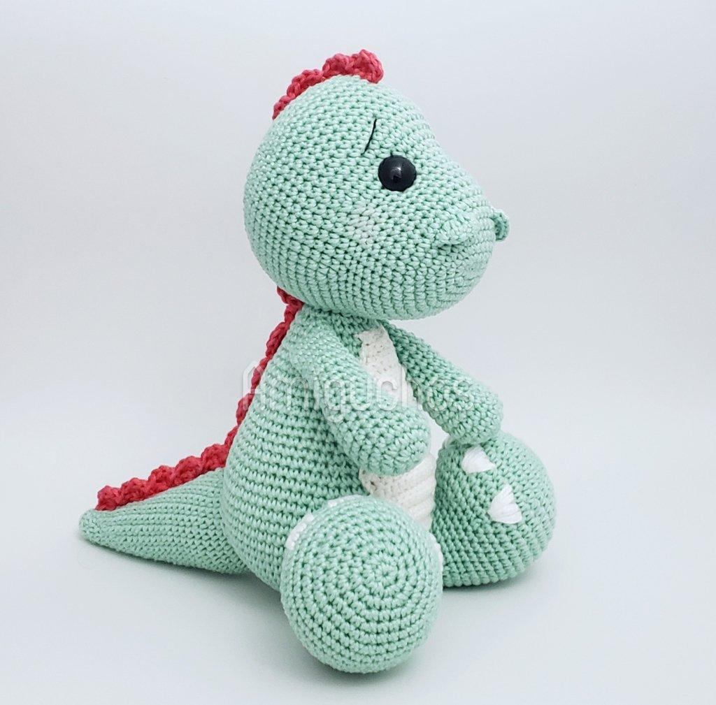 Amigurumi de dinossauro baby feito de crochê - Crochê Clube   1009x1024