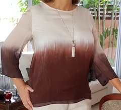 BS-0001 - Blusa seda pura degradée