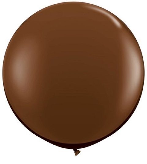 BALÃO 3FT CHOCOLATE BROWN REDONDO C/1