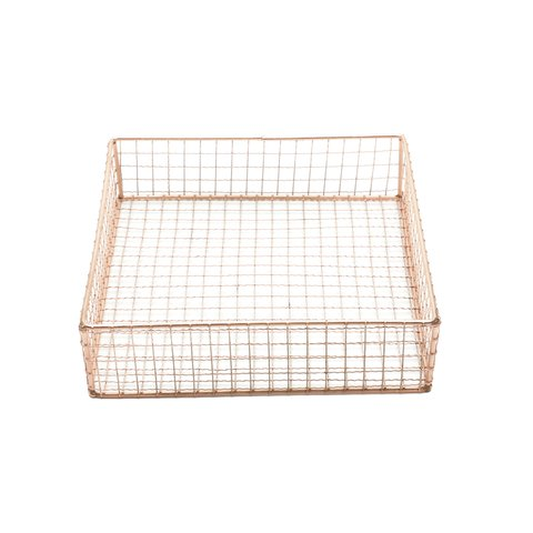 CESTA METAL SQUARE WIRE ROSE GOLD