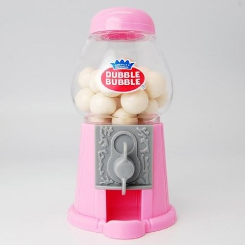 MINI BALEIRO CANDY MACHINE 12CM ROSA