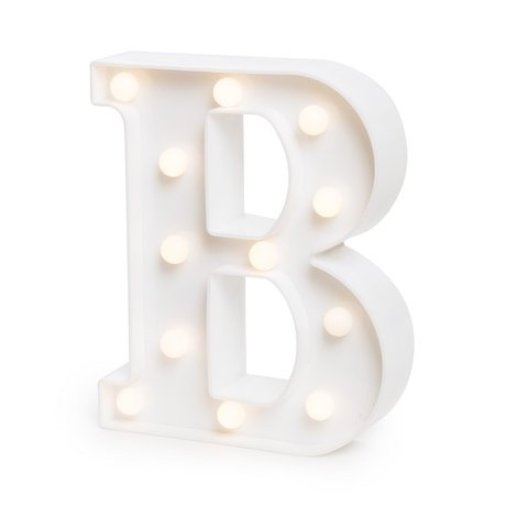 "LETRA LUMINOSA LED 3D ""B"""