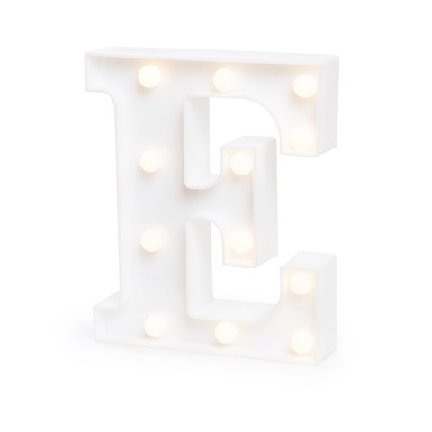 "LETRA LUMINOSA LED 3D ""E"""