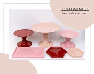 5.KIT COMEMORE ROSE, NUDE E TERRACOTA