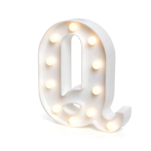 "LETRA LUMINOSA LED 3D ""Q"""