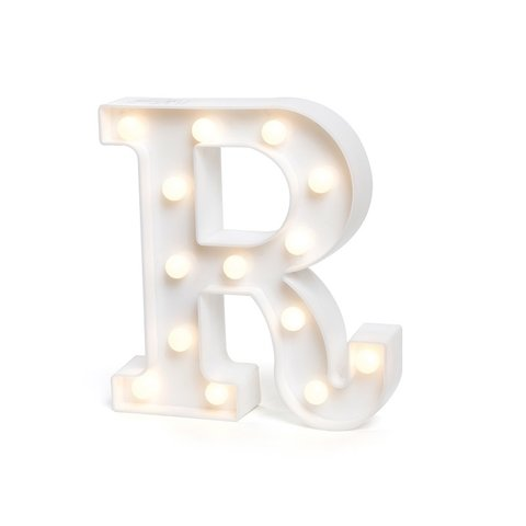 "LETRA LUMINOSA LED 3D ""R"""