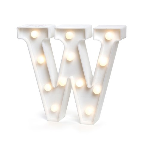 "LETRA LUMINOSA LED 3D ""W"""