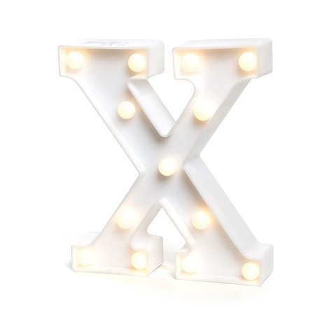 "LETRA LUMINOSA LED 3D ""X"""
