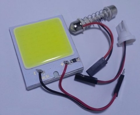 Placa Led Cob 10w 48chip's =144leds Pingo Torpedo