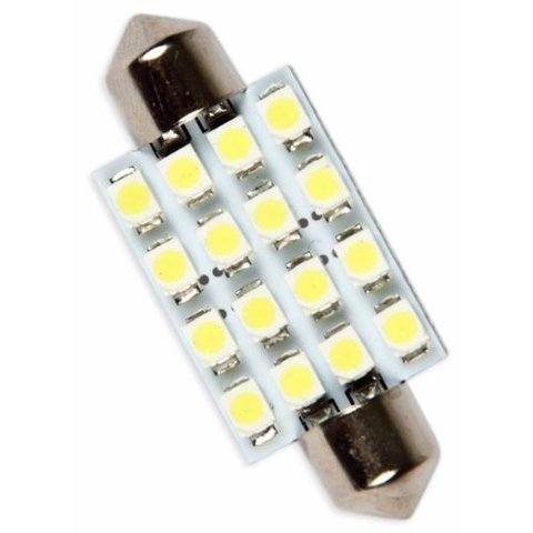 Lampada Automotiva Torpedo 39mm 16 Leds Smd 12v