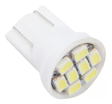 Lampada Led Automotivo W5w T10 Com 8 Leds