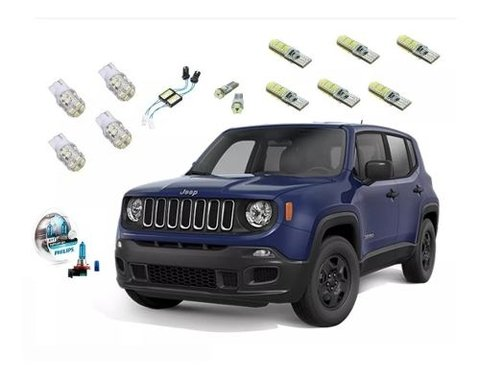 Kit Led + Philips Crystal Vision Milha Jeep Renegade