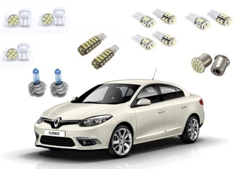 Kit Led + Super Branca Farol Baixo Renault Fluence 68 Leds