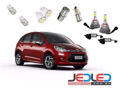 Kit Lâmpadas Led Super Led Milha Citroem C3