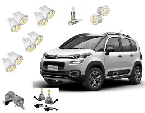 Kit Lampadas De Led Tipo Xenon Super Led Para  Aircross