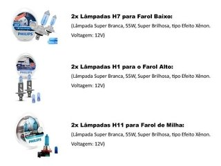 Kit Lampadas Philips Crystal Vision Novo Ford Focus