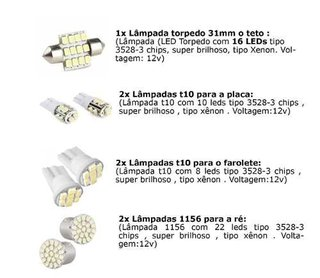 Kit Lampadas Led Tipo Xenon Punto