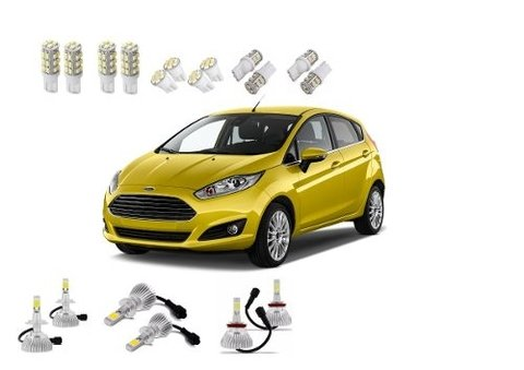 Kit Lampadas Led + Farois Super Led New Fiesta
