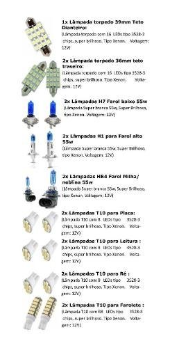 Kit Lâmpadas Led Tipo Xenon Fox 2010 A 2014
