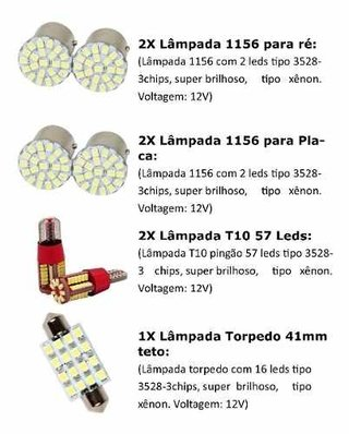 Kit Lampadas Led Interna Celta Prisma
