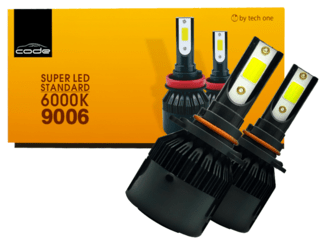 KIT SUPER LED TECH ONE (CODE) HB4 LAMPADA 6000K 12V 24V